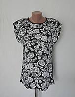 Женская футболка с цветочным принтом - ОПТОМ!, фото 1