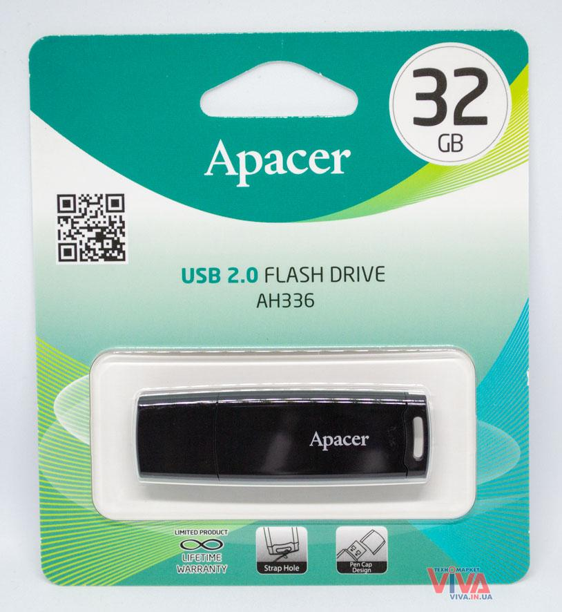 USB флешка Apacer AH336 32 Gb Black, фото 1