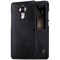 Кожаный чехол (книжка) Nillkin Qin Series для Huawei Mate 9 (Черный)