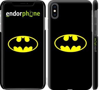 "Чехол на iPhone XS Max Бетмен логотип ""3201c-1557-22203"""
