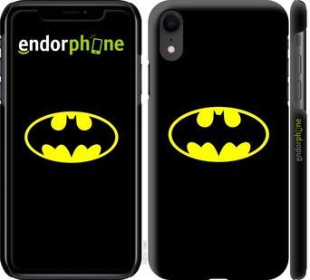 """✅ Чехол на iPhone XR Бетмен логотип """"3201c-1560-22203"""""""