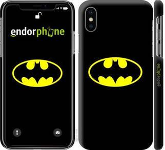 """✅ Чехол на iPhone XS Бетмен логотип """"3201c-1583-22203"""""""