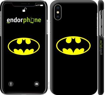 "✅ Чехол на iPhone X Бетмен логотип ""3201c-1050-22203"""