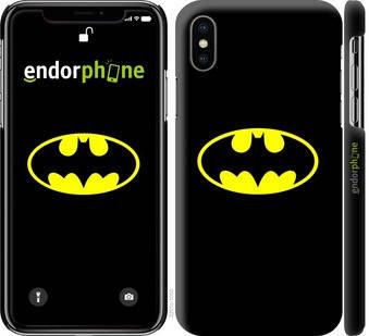 """✅ Чехол на iPhone X Бетмен логотип """"3201c-1050-22203"""", фото 2"""