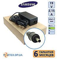 Зарядное устройство для ноутбука 3,0-1,1 mm 2,15A 19V Samsung класс А+ (кабель питания в подарок) нов