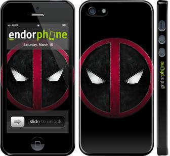 """✅ Чехол на iPhone 5 Дэдпул """"3405c-18-22203"""""""
