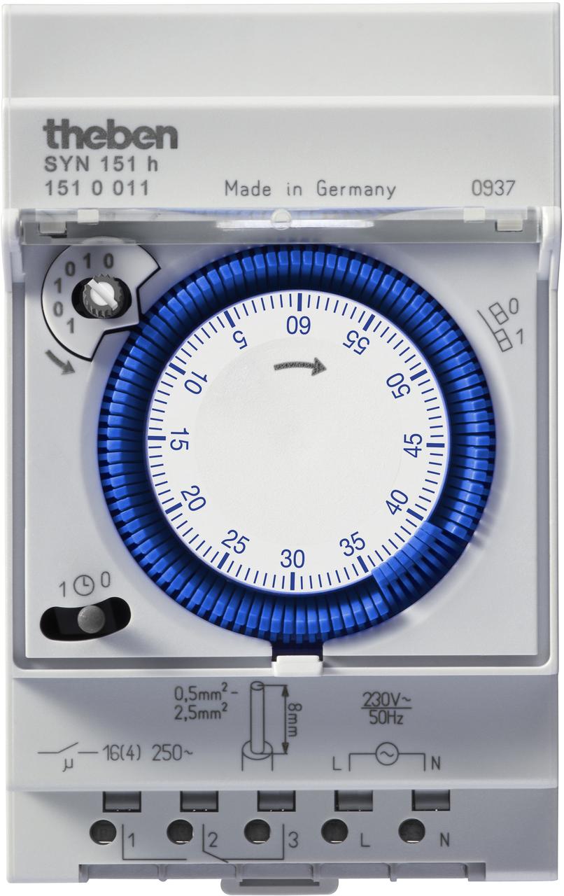 Реле часу MEM 190 a установка часу сегментами, монтаж DIN-рейка