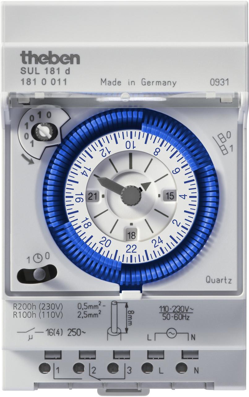 Реле часу SYN 161 d установка часу сегментами на DIN-рейку, Theben