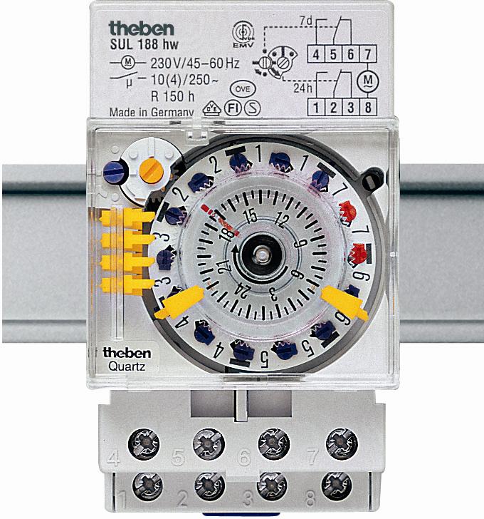 Реле часу SUL 188 g установка часу вставками на DIN-рейку, Theben