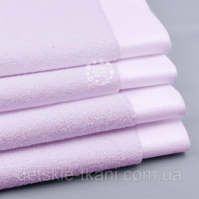 Непромокаемая махровая ткань розового цвета