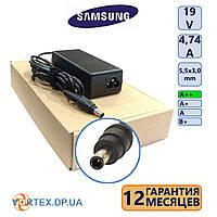 Зарядное устройство для ноутбука 5,5-3,0 mm pin inside 4,74A 19V Samsung класс A++ (кабель питания в подарок) нов