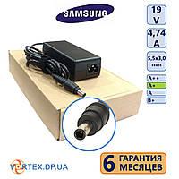 Зарядное устройство для ноутбука 5,5-3,0 mm pin inside 4,74A 19V Samsung класс A+ (кабель питания в подарок) нов