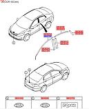 Наклейка передніх правих дверей верхня, Kia Rio 2011-14 QBR, 863724x000, фото 3