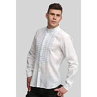 Мужская белая вышитая рубашка вышиванка White 2, фото 1