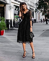 """Женское красивое кружевное платье с рукавом 3/4 """"Водевиль"""""""