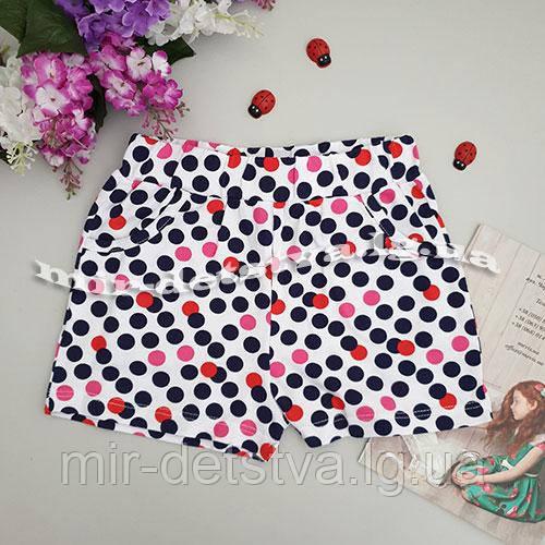 Трикотажные шорты для девочек ТМ Lovetti, Турция оптом р.1-4 года (4 шт в ростовке)