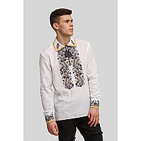 Чоловіча біла вишита сорочка вишиванка White 3, фото 1