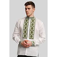 Чоловіча біла вишита сорочка вишиванка White 5, фото 1