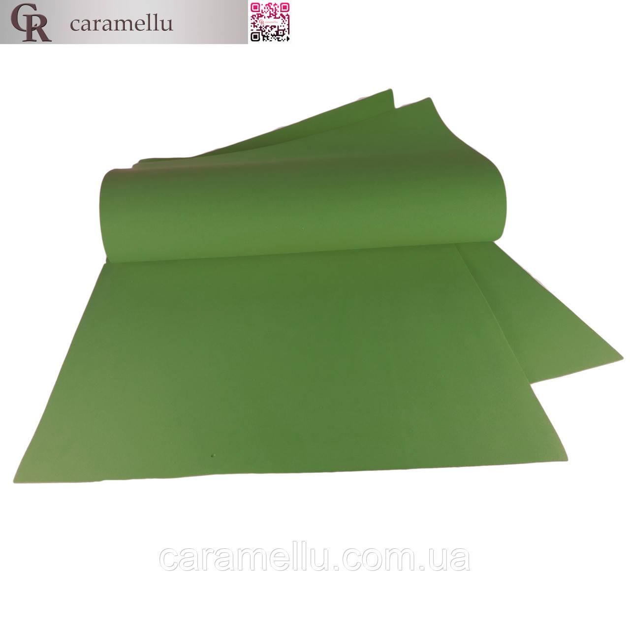Фоамиран иранский 179, Темно-зеленый, 1мм, 70х60см.