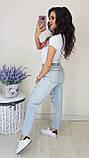 Джинсы женские светлые с рванкой момы, фото 2