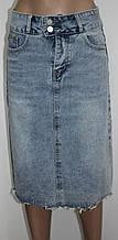 Юбка джинсовая, голубая
