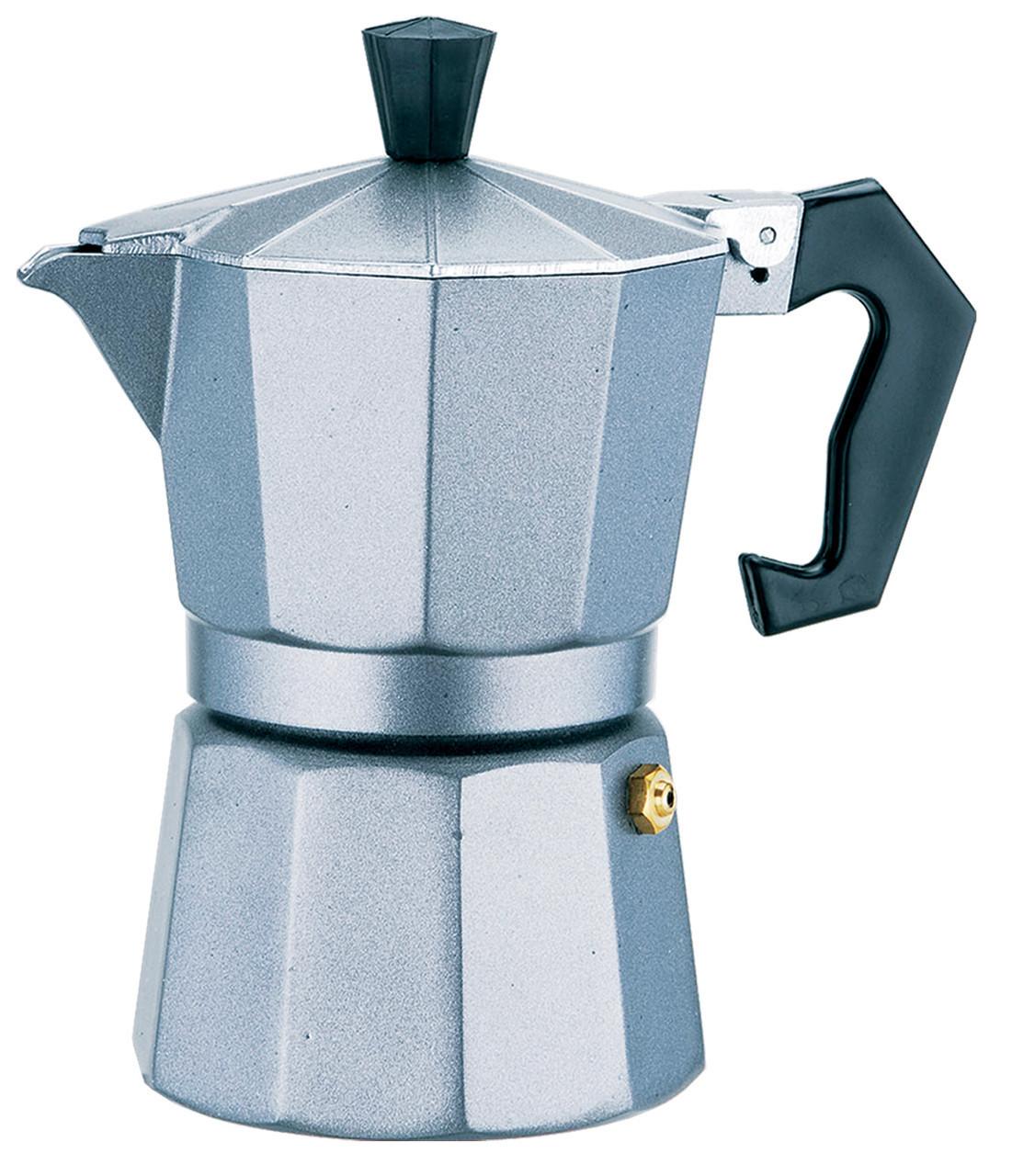 Гейзерная кофеварка на 6 чашек алюминий MR-1666-6