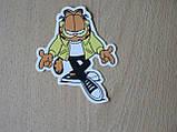 Наклейка пп Китай персонаж Кот Гарфилд 69х88мм Космический спецназ, фото 3