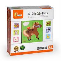 Пазл-кубики Viga Toys Ферма