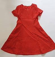 """Детское платье для девочки 6-10 лет,""""Горошек"""",красного цвета, фото 1"""