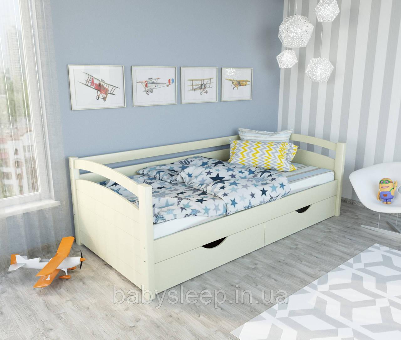 """Кровать подростковая """"Мила"""" цвет - слоновая кость. Цена без ЯЩИКОВ!"""