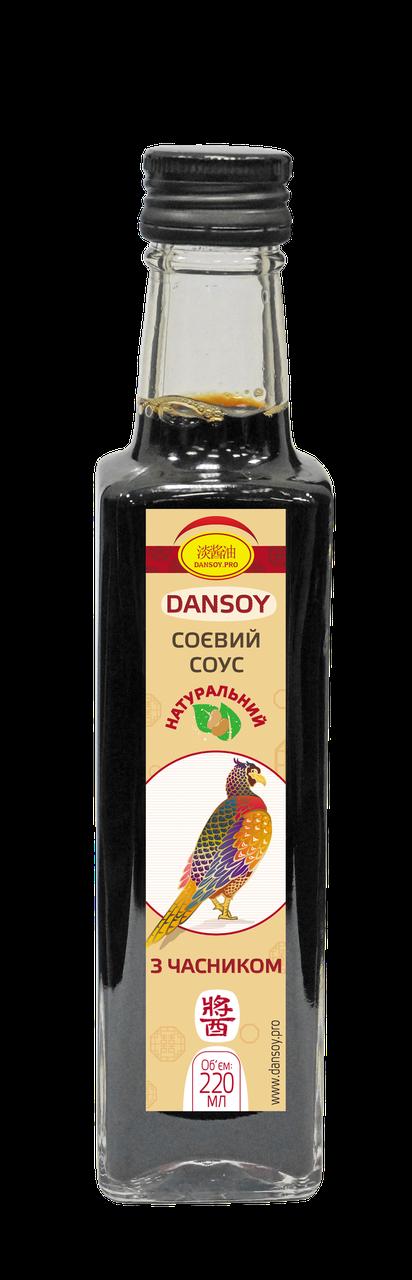 Cоевый соус DanSoy с чесноком 220 мл стекло (ДанСой)