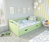 """Кровать подростковая """"Мила"""" цвет - салатовая. Цена без ЯЩИКОВ!"""