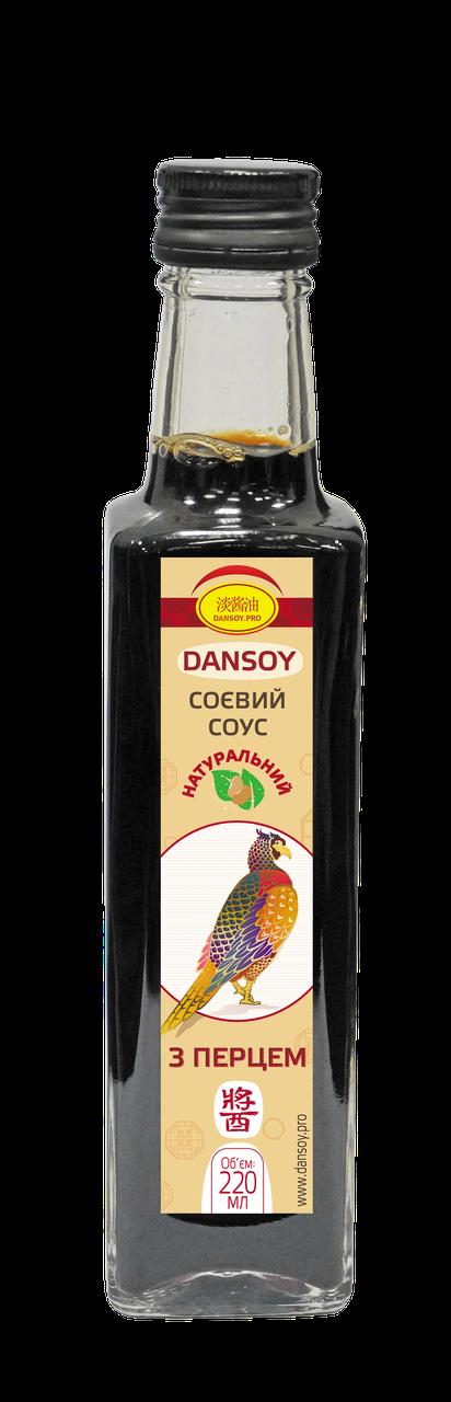 Cоевый соус DanSoy с перцем Чили 220 мл стекло (ДанСой)