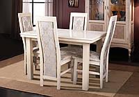 Комплект кухонный стол Европа+4 стула Катрин, цвет слоновая кость