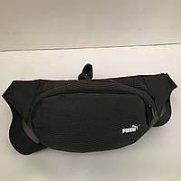 Поясная сумка черная Puma 2 отделения (Бананка, Сумка на пояс, сумка на плечо), фото 1