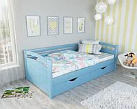 """Кровать подростковая """"Мила"""" цвет - голубой."""