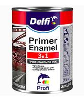 Delfi Грунт-эмаль по ржавчине 3 в 1 Темно-коричневый 45 кг