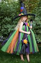 """Карнавальний костюм,сукні приємно ва-сарафан з фатину """"ВІДЬМОЧКА"""", фото 2"""