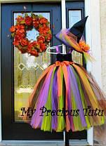 """Карнавальний костюм,сукні приємно ва-сарафан з фатину """"ВІДЬМОЧКА"""", фото 3"""