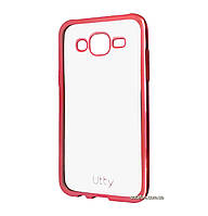 Силиконовый чехол Utty Electroplating TPU на Samsung Galaxy J5 SM-J500H Pink