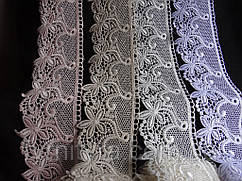 Кружево Гипюр  8см белое, бежевое, молочное, фрез 848