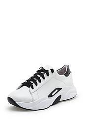 Кроссовки женские белые кожаные (01884)