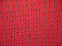 Фетр красный с рисунком черный горошек 21смХ21см