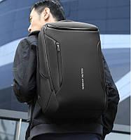 Городской рюкзак Mark Ryden MR_9031BK с USB-разъемом, влагостойкий