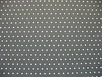Фетр серый  с рисунком белый горошек 21смХ21см
