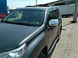 Хром накладки на дзеркала Toyota Land Cruiser Prado 150 2009-2021, фото 2