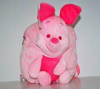 Розовый детский плюшевый рюкзачок для девочки, дошкольный рюкзак-игрушка Пятачок