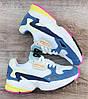 Детские, подростковые кроссовки Adidas Falcon Lake Blue/White/Pink ТОЛЬКО 40 - стелька 25.5см на стопу от 25см, фото 5