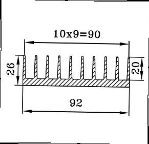 Радиаторный профиль 92х26, фото 3