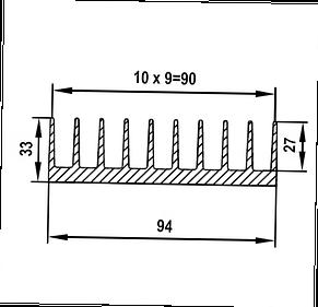 Радиаторный профиль 94х33, фото 3